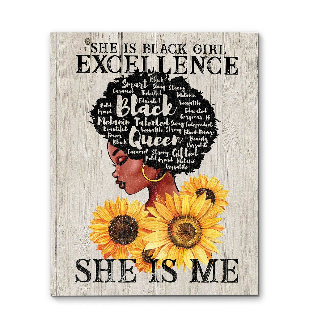Black Girl Excellence EZ13 0110 Canvas