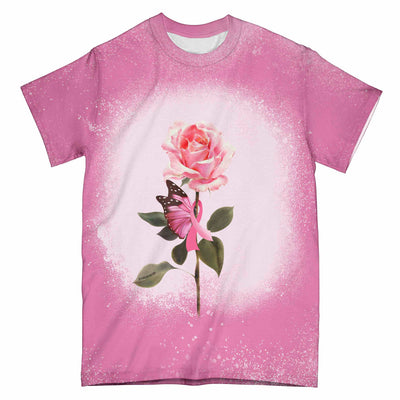 Breast Cancer Awareness Rose Ribbon EZ01 3103 All Over T-shirt
