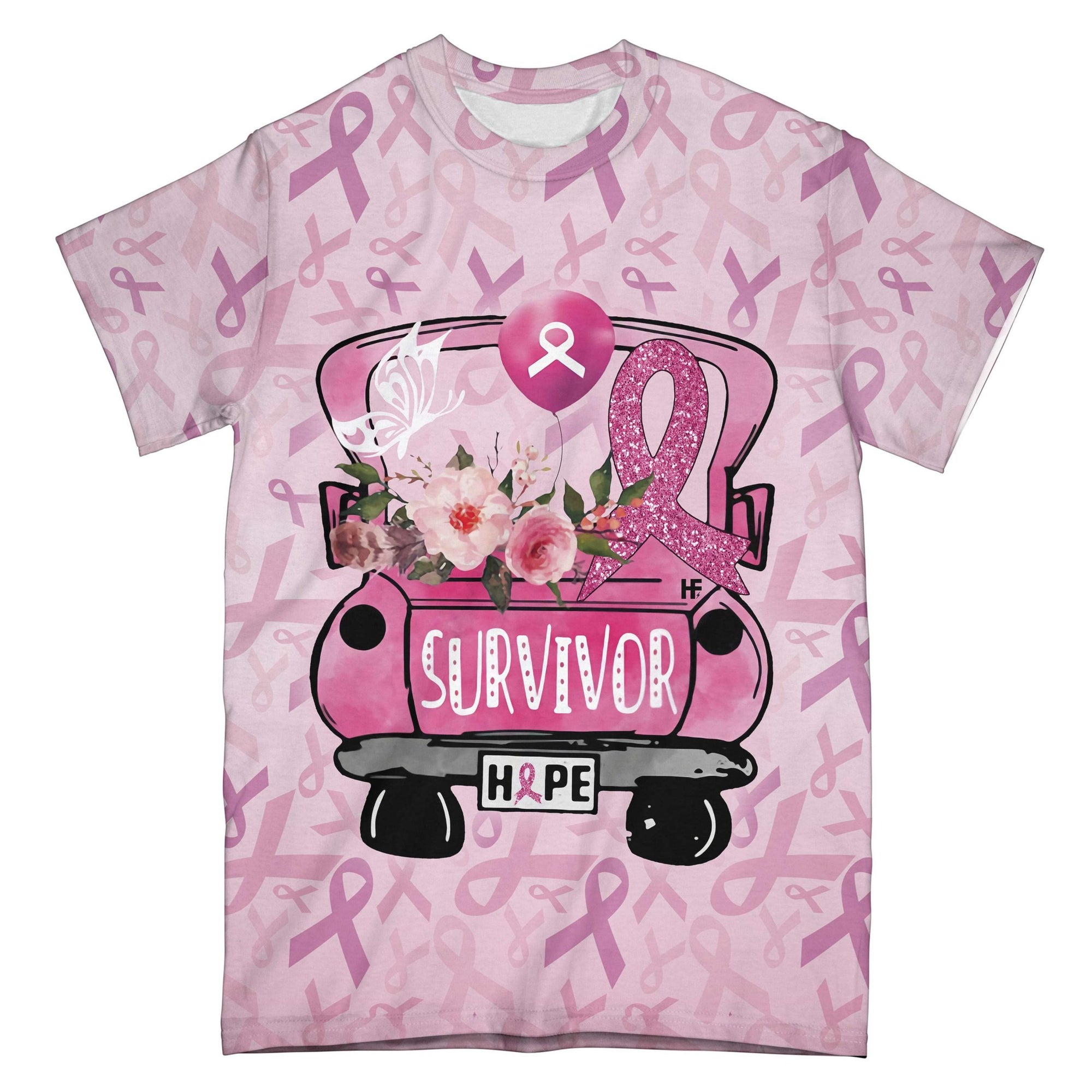 Breast Cancer Survivor EZ08 1908 All Over T-shirt