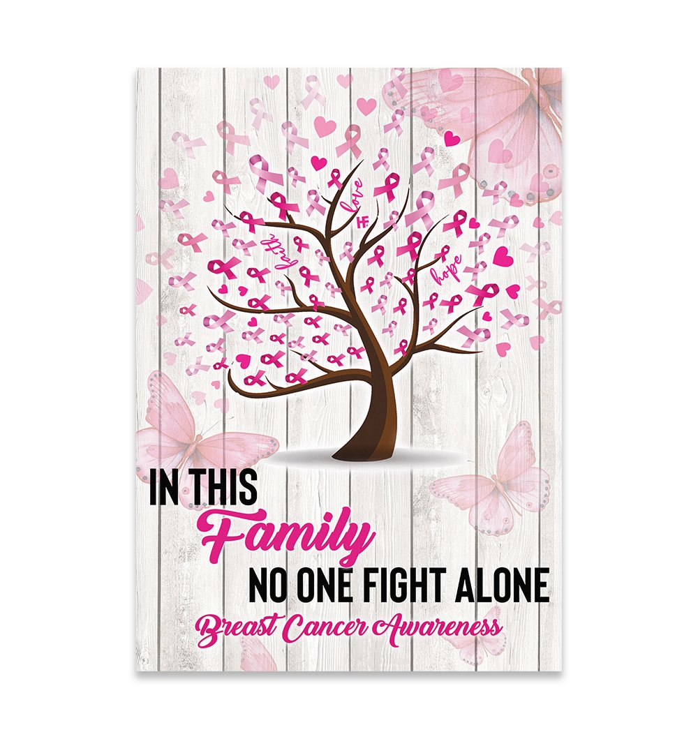 Breast Cancer Awareness Family No One Fight Alone A EZ07 2609 Canvas