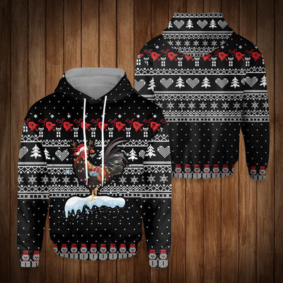 CHRISTMAS ROOSTER LIGHT EZ15 0810 All Over Print Hoodie