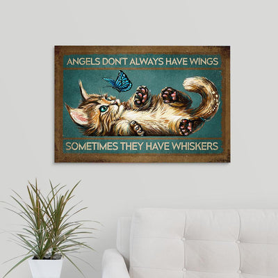 Cat Angels Don't Always Have Wings EZ06 2909 Canvas