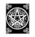Celtic Pentacle Triple Moon Witch Wicca EZ20 1710 Canvas