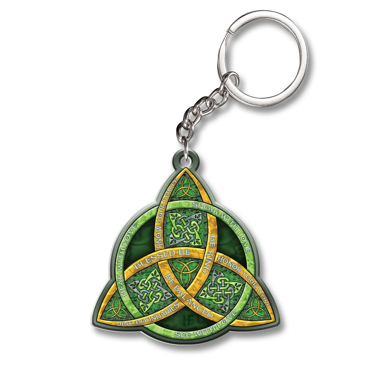 Celtic Trinity Knot Be Kind WiccaEZ20 1501 Keychain