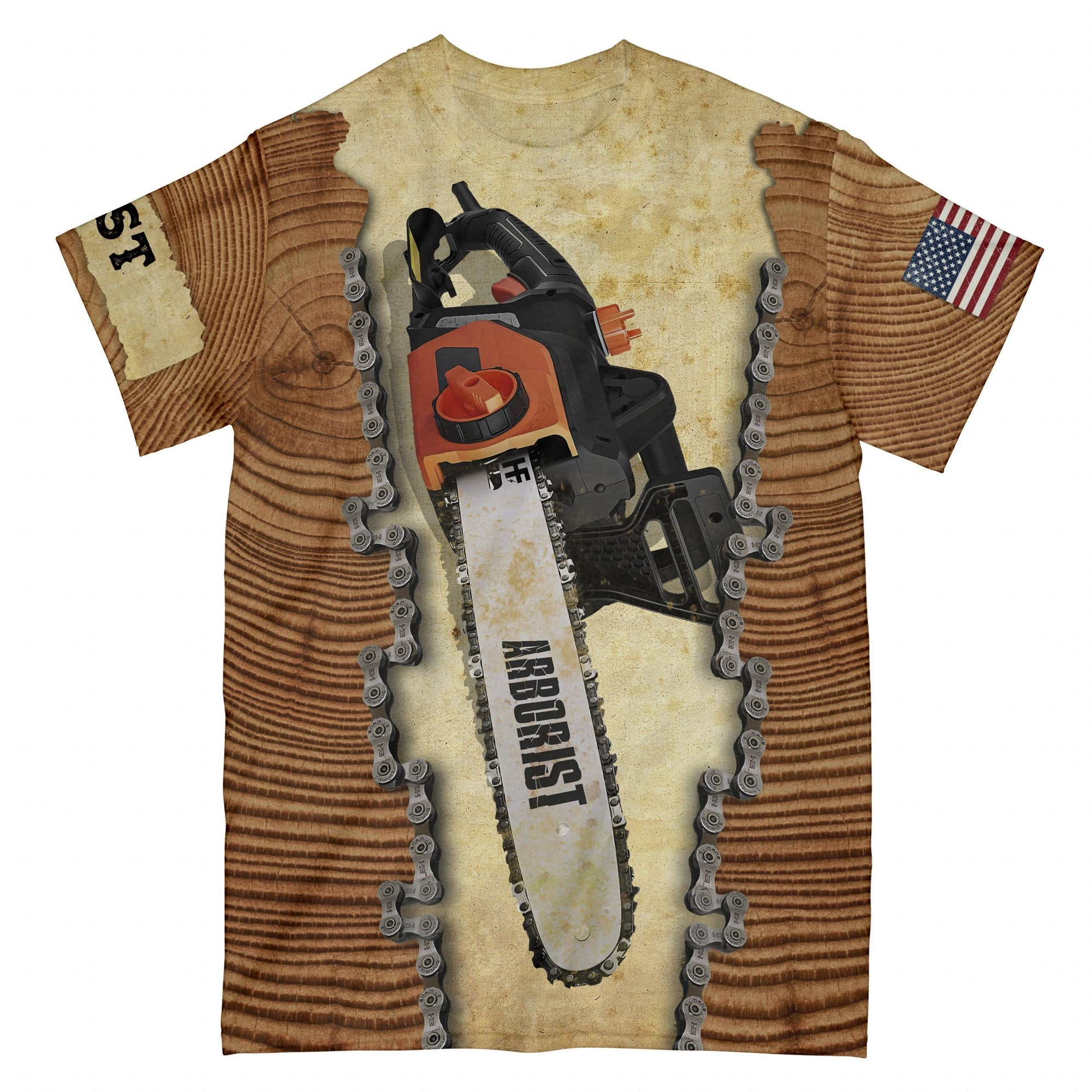 Chain Saw EZ15 2508 All Over T-Shirt