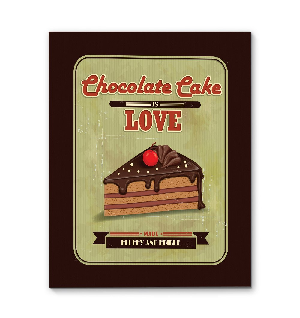 Chocolate cake love bakery EZ21 2809 Canvas