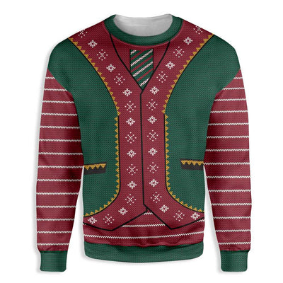 Christmas Elf Vest EZ22 1510 All Over Print Sweatshirt