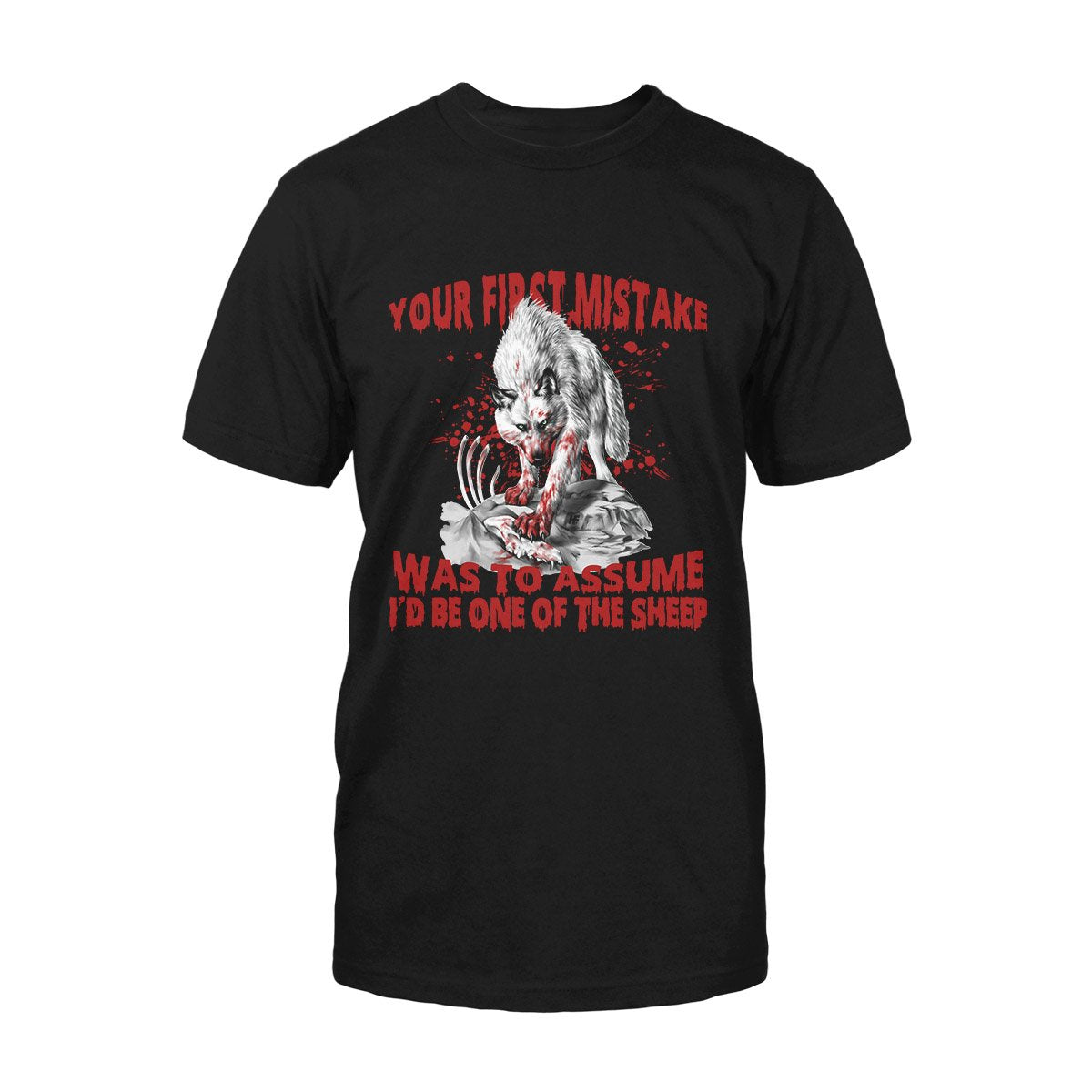 Your First Mistake White Wolf EZ02 2808 Classic T-shirt