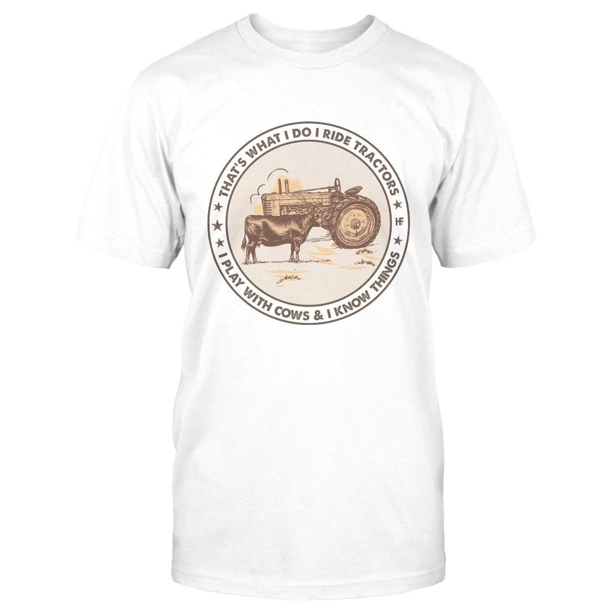 I Ride Tractor And Play With Cows V2 EZ16 0602 Classic T-shirt