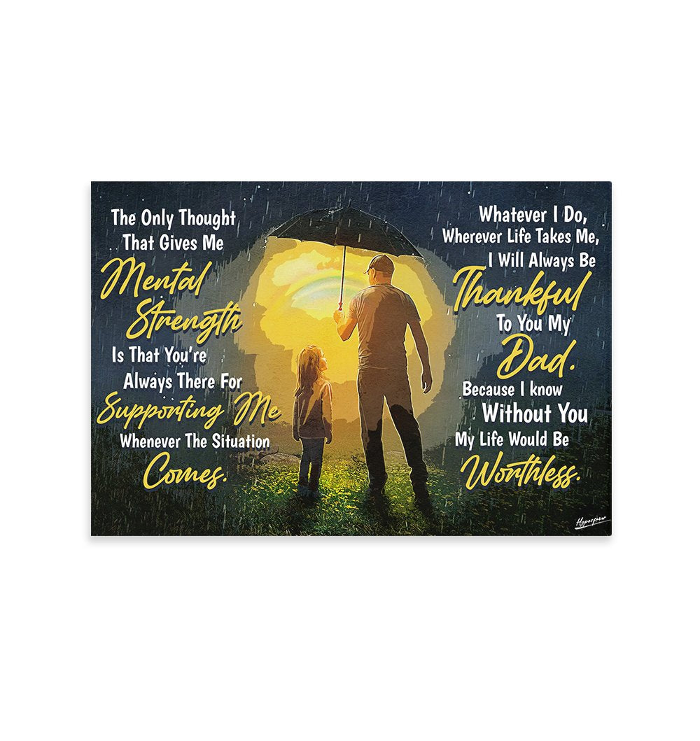 Dad's Always There For Supporting Me EZ29 2601 Canvas