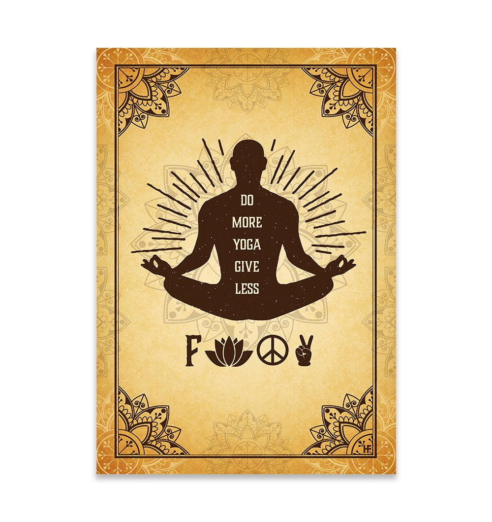 Do more Yoga give less F bombs EZ21 2809 Canvas