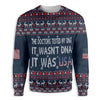 Doctors Tested My DNA It Was USA Ugly Christmas EZ20 0910 All Over Print Sweatshirt