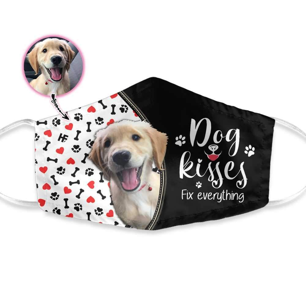 Dog Kisses Fix Everything EZ16 1903 Custom Face Mask