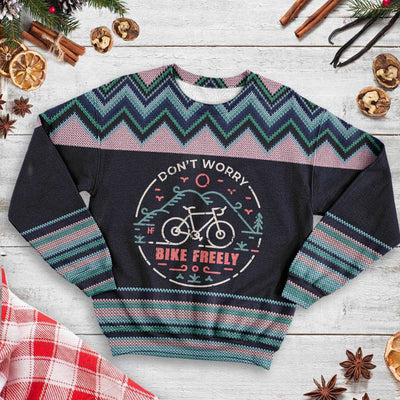 Don't Worry Bike Freely MTB Christmas EZ22 1210 All Over Print Sweatshirt