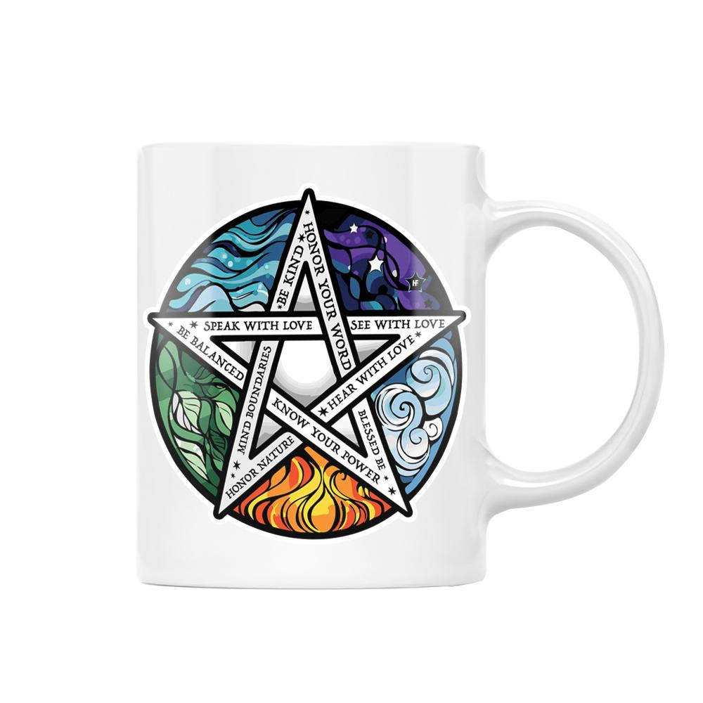 Element Pentacle Be Kind Wicca EZ20 0812 White Mug