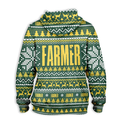 Farmer Happy Christmas EZ15 0510 All Over Print Hoodie