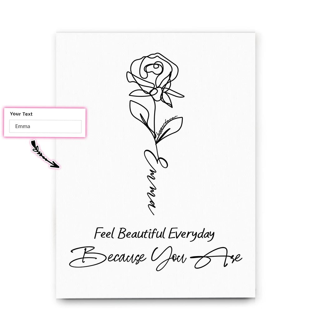 Feel Beautiful Everyday Because You Are Mother's Day EZ20 2302 Custom Canvas