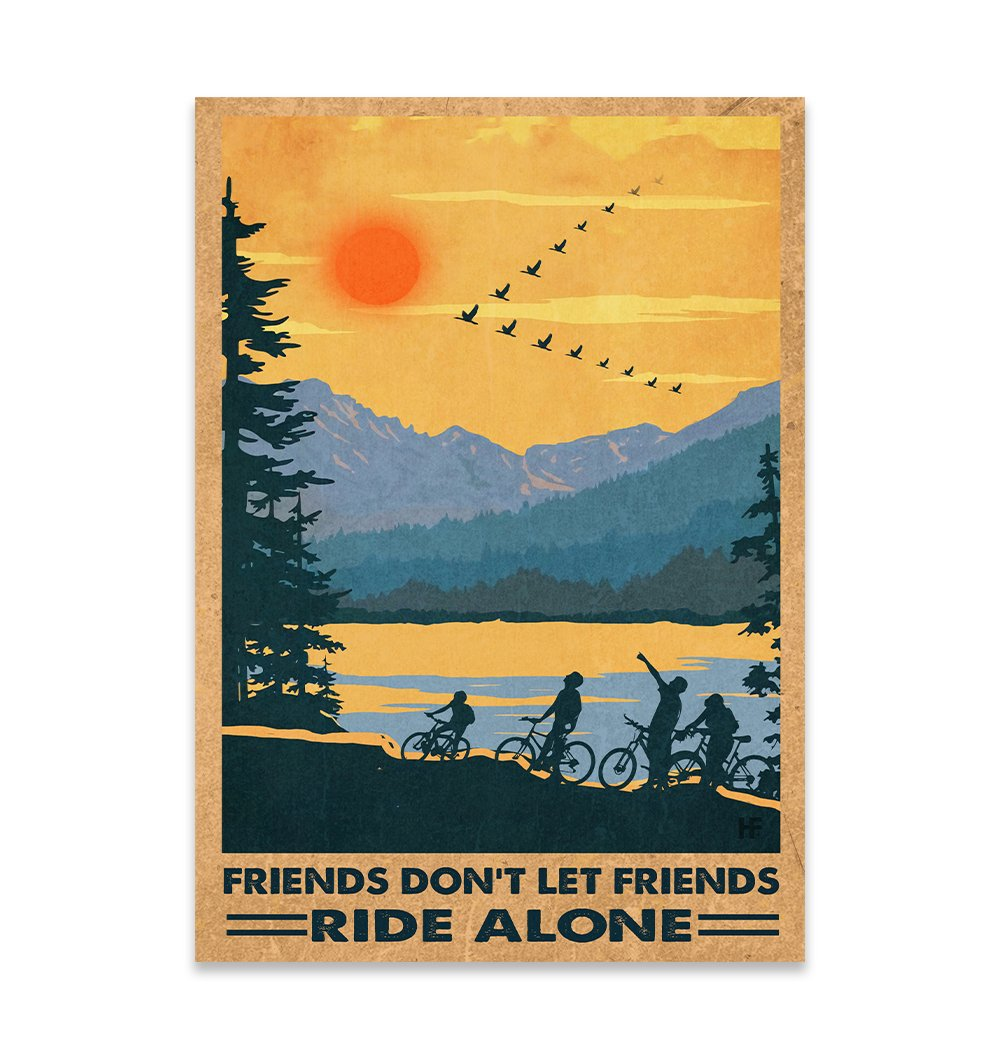 Friends Don't Let Friends Ride Alone EZ22 2811 Canvas