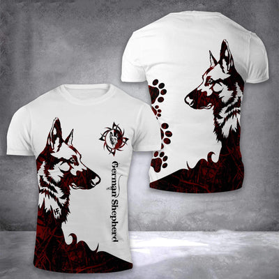 German Shepherd 3D Printed EZ16 2508 All Over T-Shirt