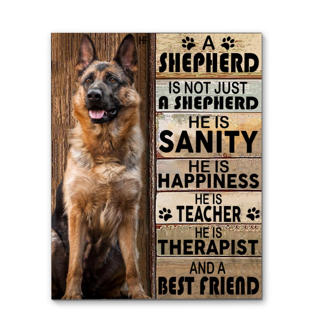 German Shepherd Dog 2 EZ23 2002 Canvas