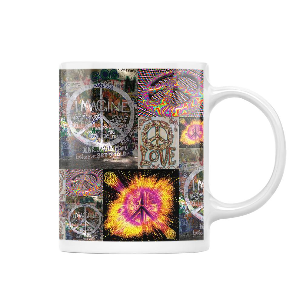 Give Peace A Chance Hippie EZ25 1112 White Mug
