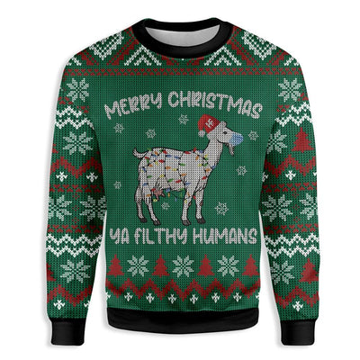 Goat Ya Filthy Humans Farmer EZ23 0810 All Over Print Sweatshirt
