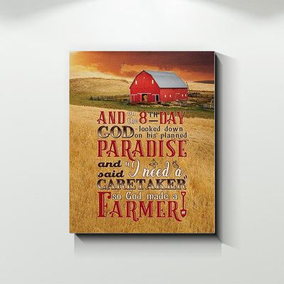 God Made A Farmer 2 EZ12 2109 Canvas