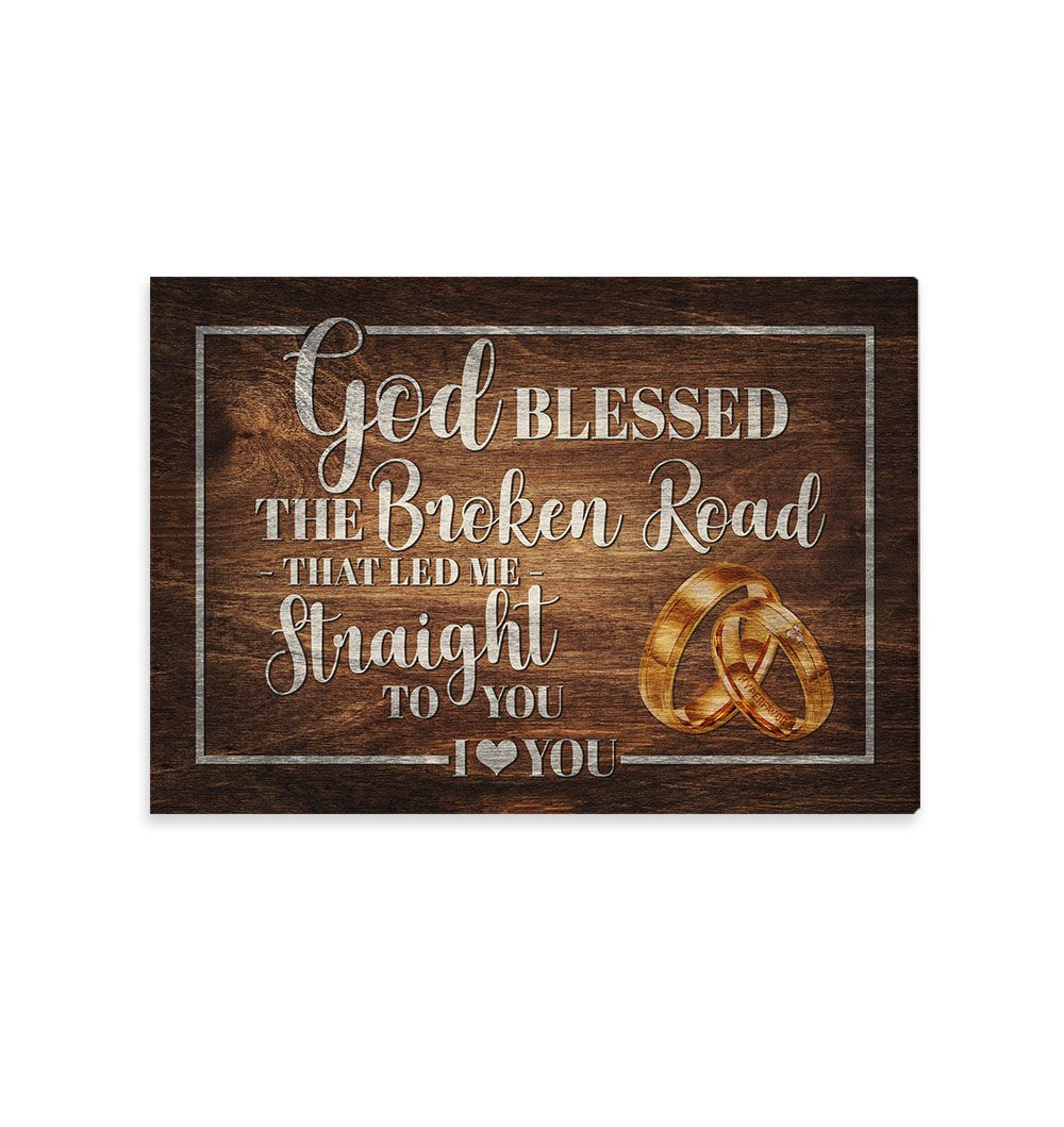 God blessed the broken road EZ15 2109 Canvas