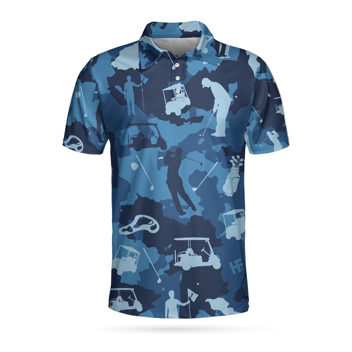 Golf Ocean Blue Camouflage EZ20 3103 Polo Shirt