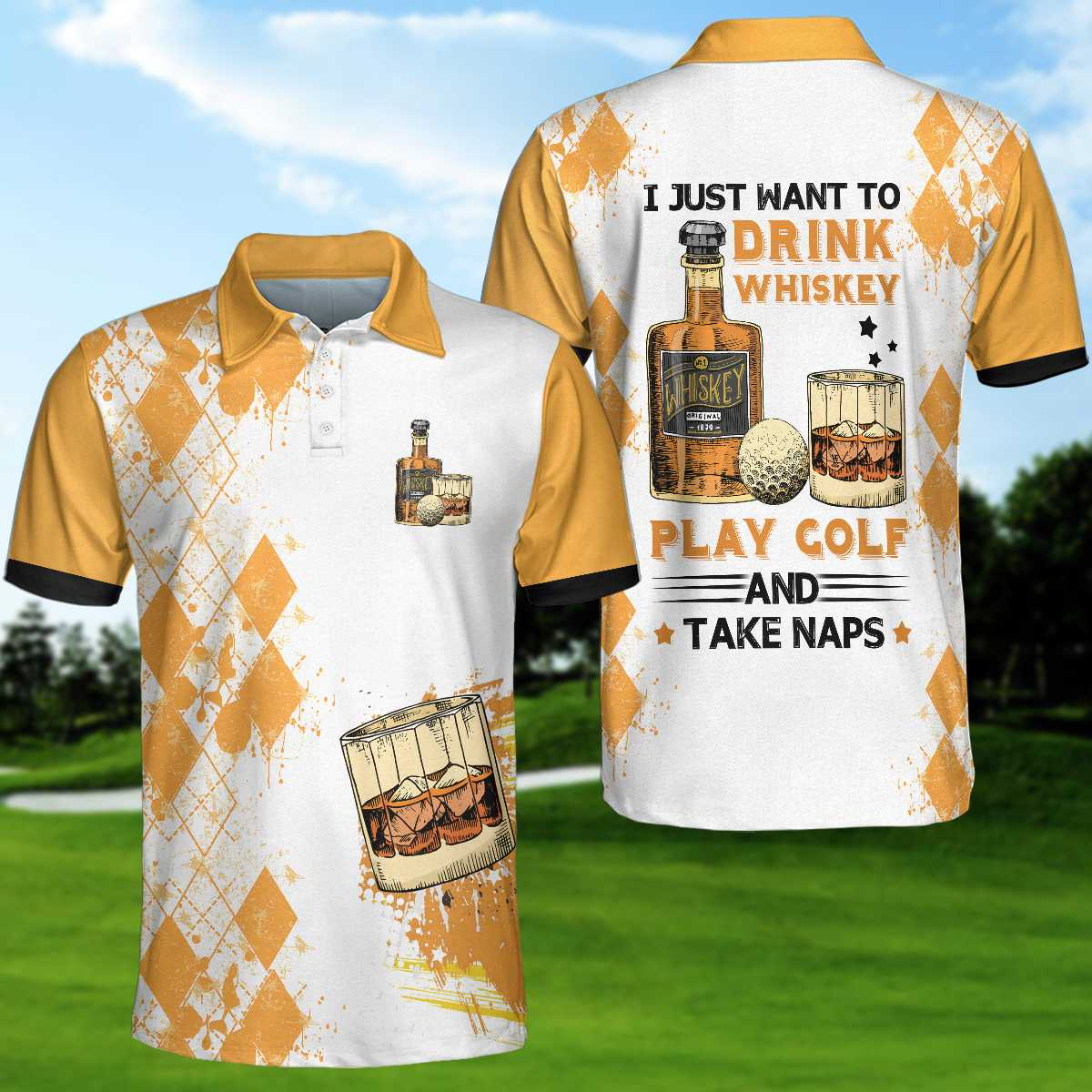 Golf Whisky And Take Naps V2 EZ20 0304 Polo Shirt