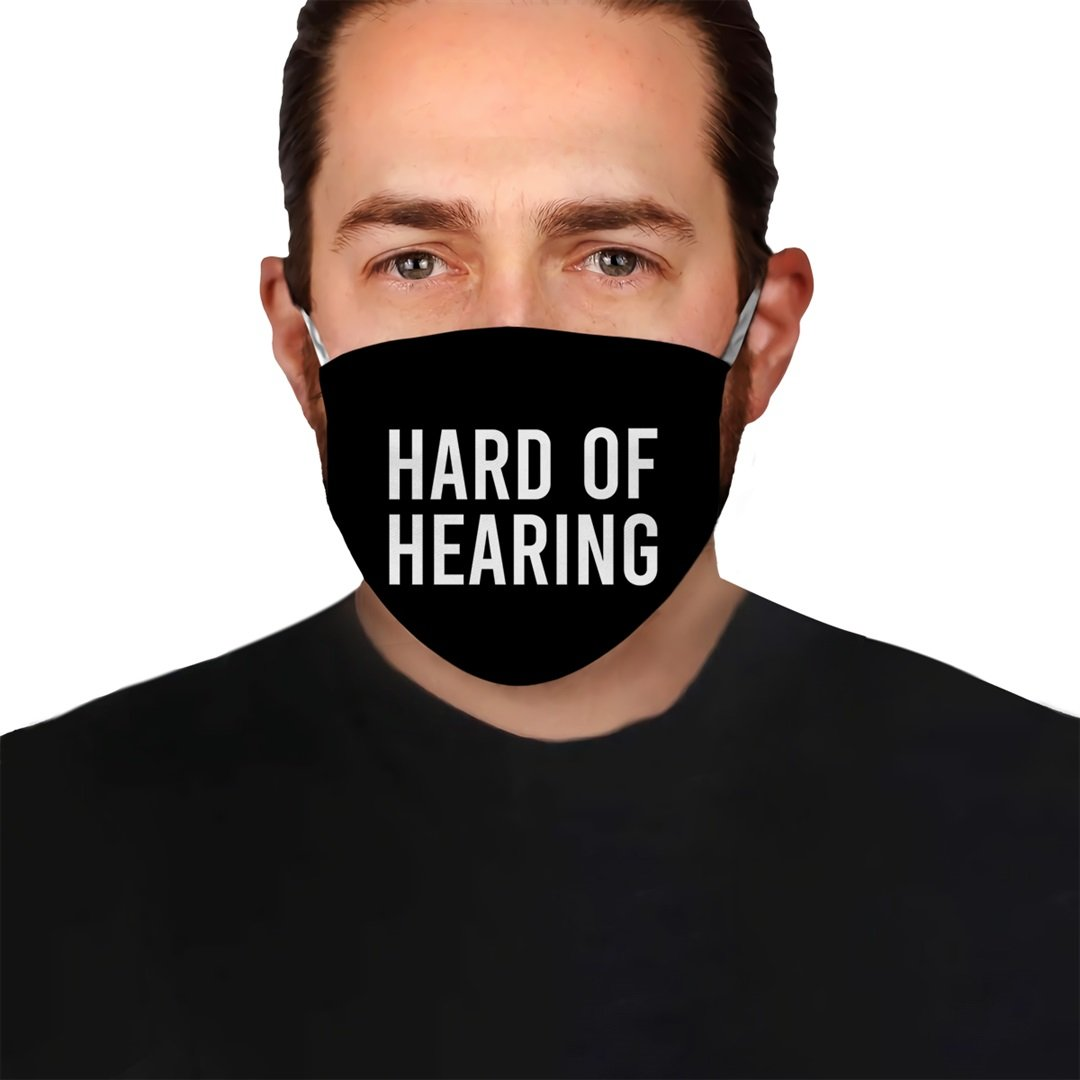 Hard Of Hearing Deaf Awareness EZ10 0705 Face Mask 1