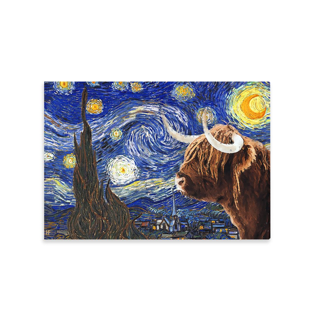 Highland Cow EZ23 2112 Canvas