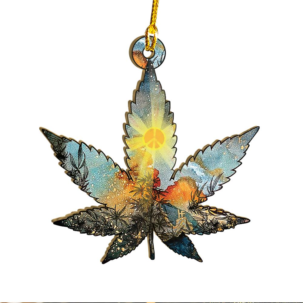 Hippie Cannabis EZ25 0312 Ornament