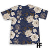Honey Bee Peonies EZ06 1103 All Over T-Shirt