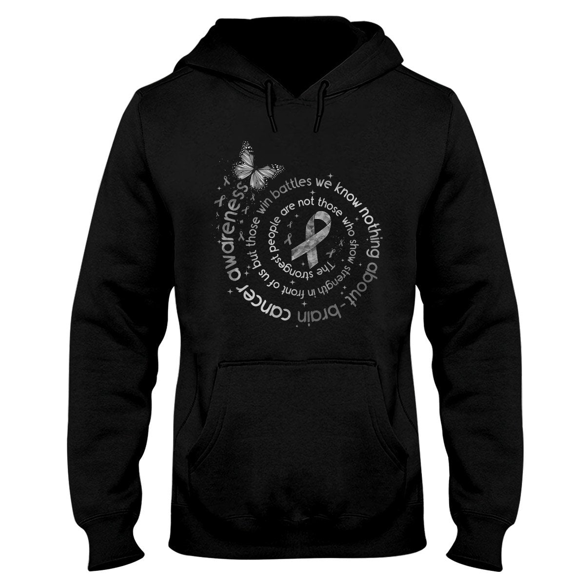 The Strongest People Brain Cancer Awareness EZ24 3012 Hoodie