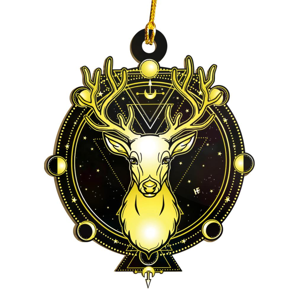 Horned Deer Moon Phase Wicca EZ19 1711 Ornament