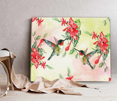 Hummingbird Abstract Painting EZ08 2209 Canvas