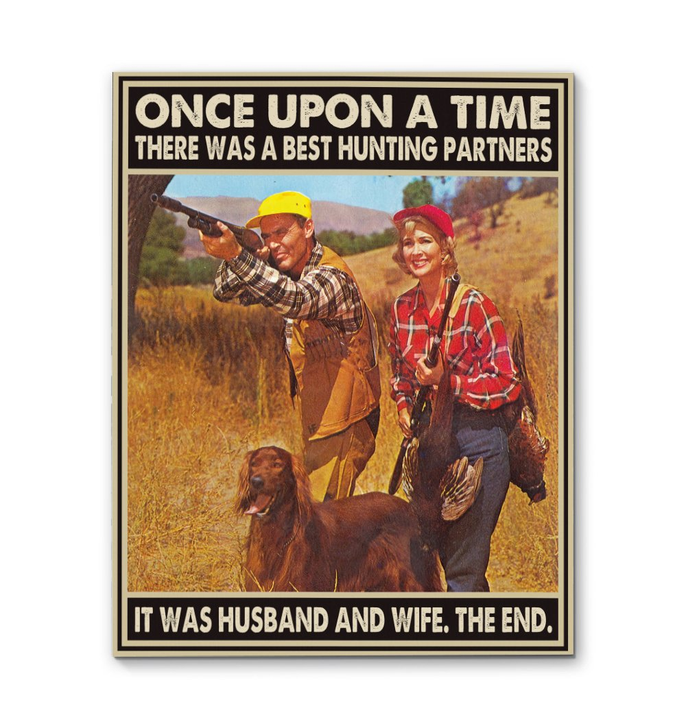 Husband And Wife Hunting Partners For Life EZ26 0910 Canvas
