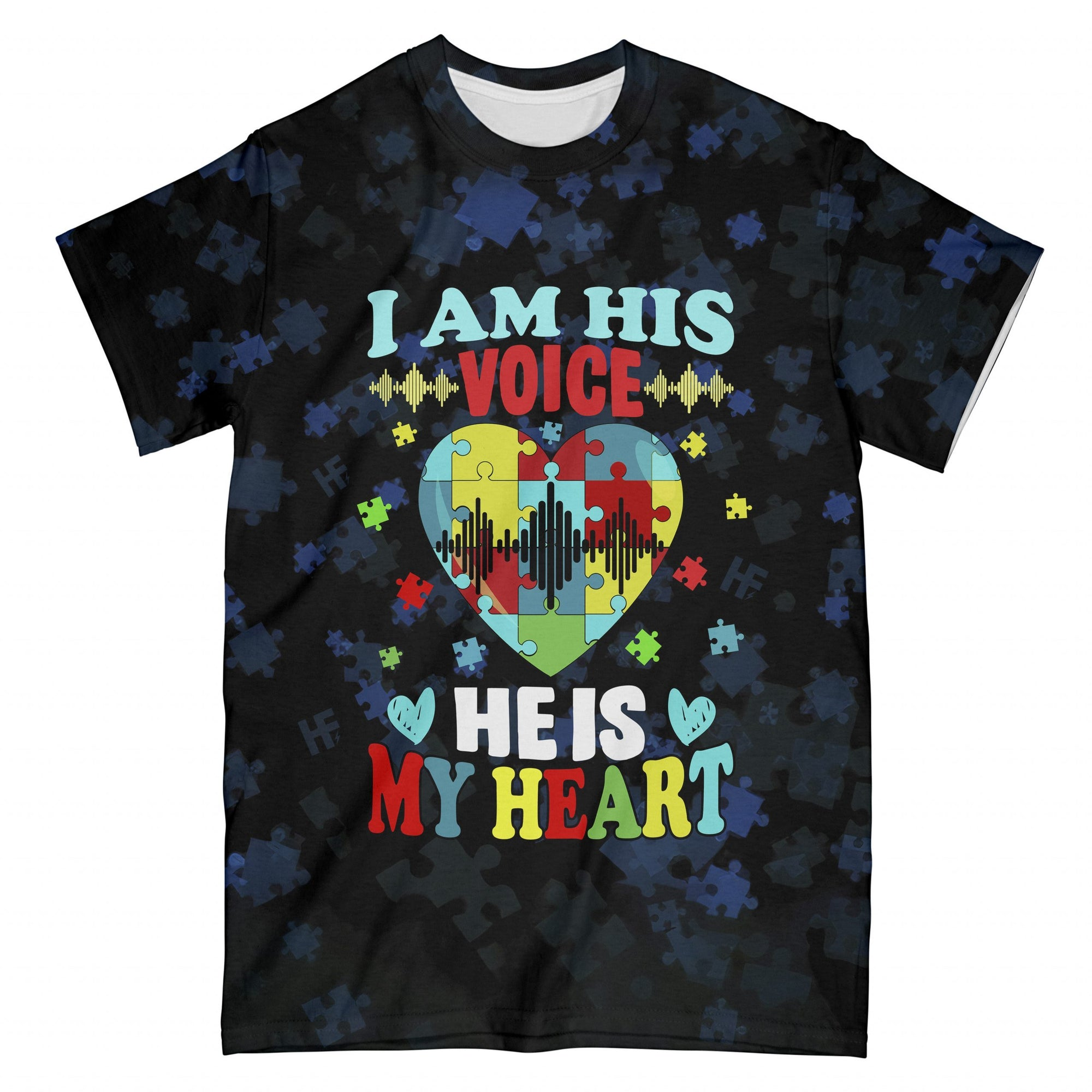 I Am His Voice He Is My Heart EZ16 2808 All Over T-Shirt