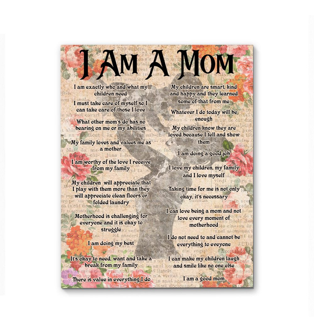 I Am A Good Mom Newspaper Background EZ24 0103 Canvas