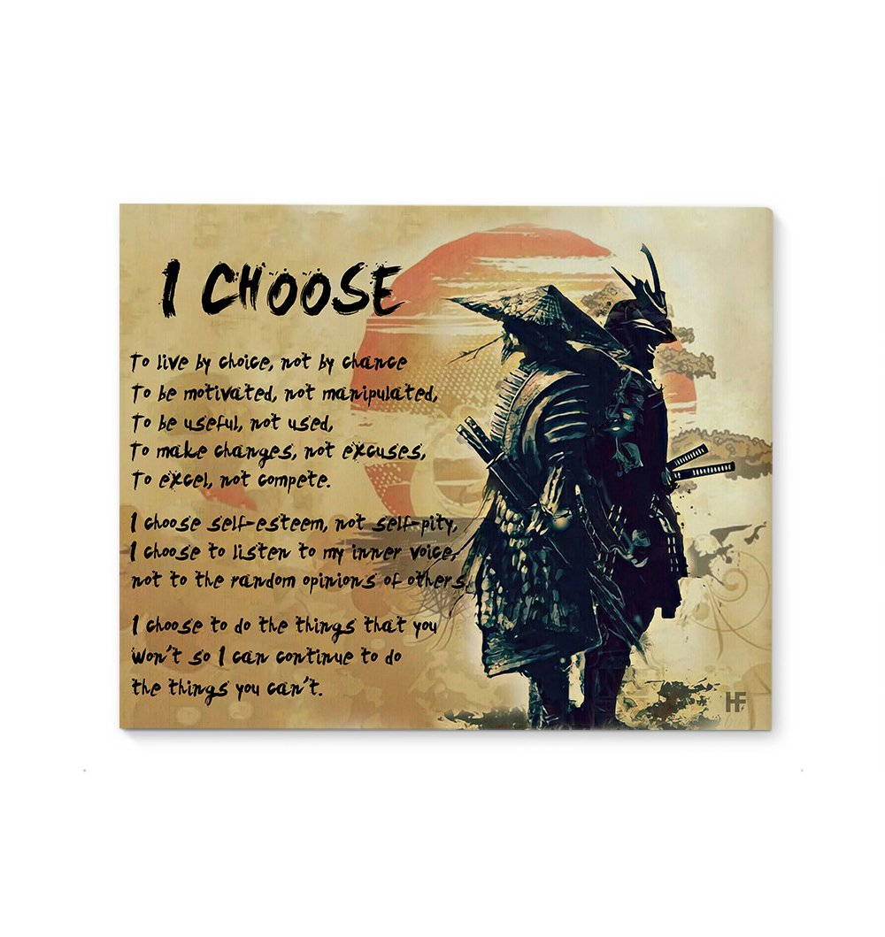 I Choose My Own Way Of Life EZ21 0112 Canvas