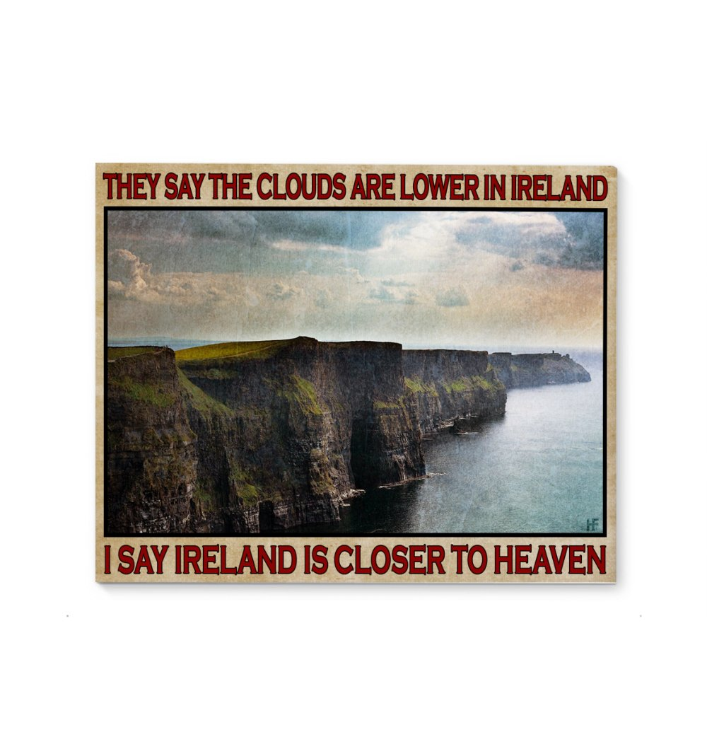 Ireland Is Closer To Heaven 2 EZ12 2501 Canvas