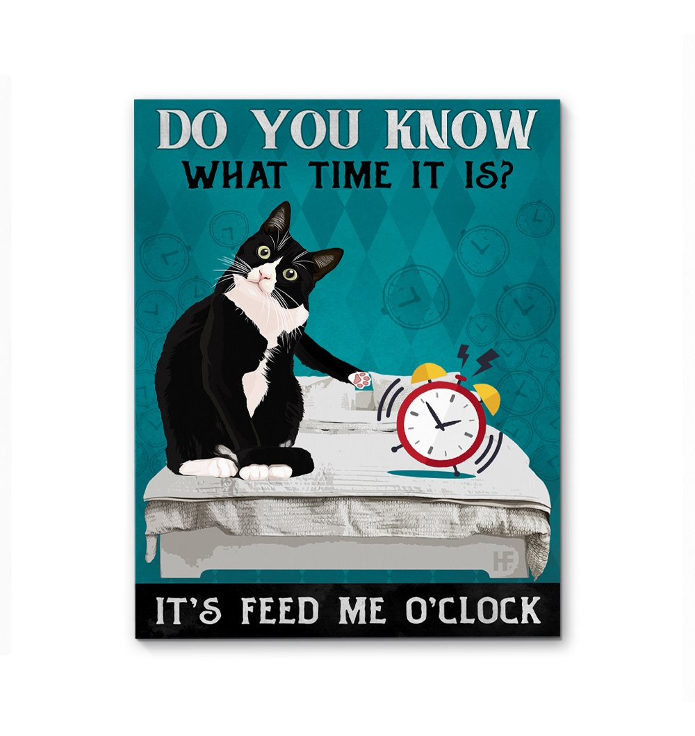 It's Feed Me O'Clock Cat EZ21 0512 Canvas