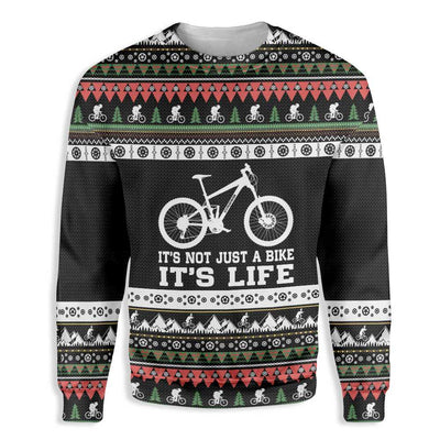 It's Not Just A Bike MTB Christmas Ugly Sweater EZ22 1010 All Over Print Sweatshirt