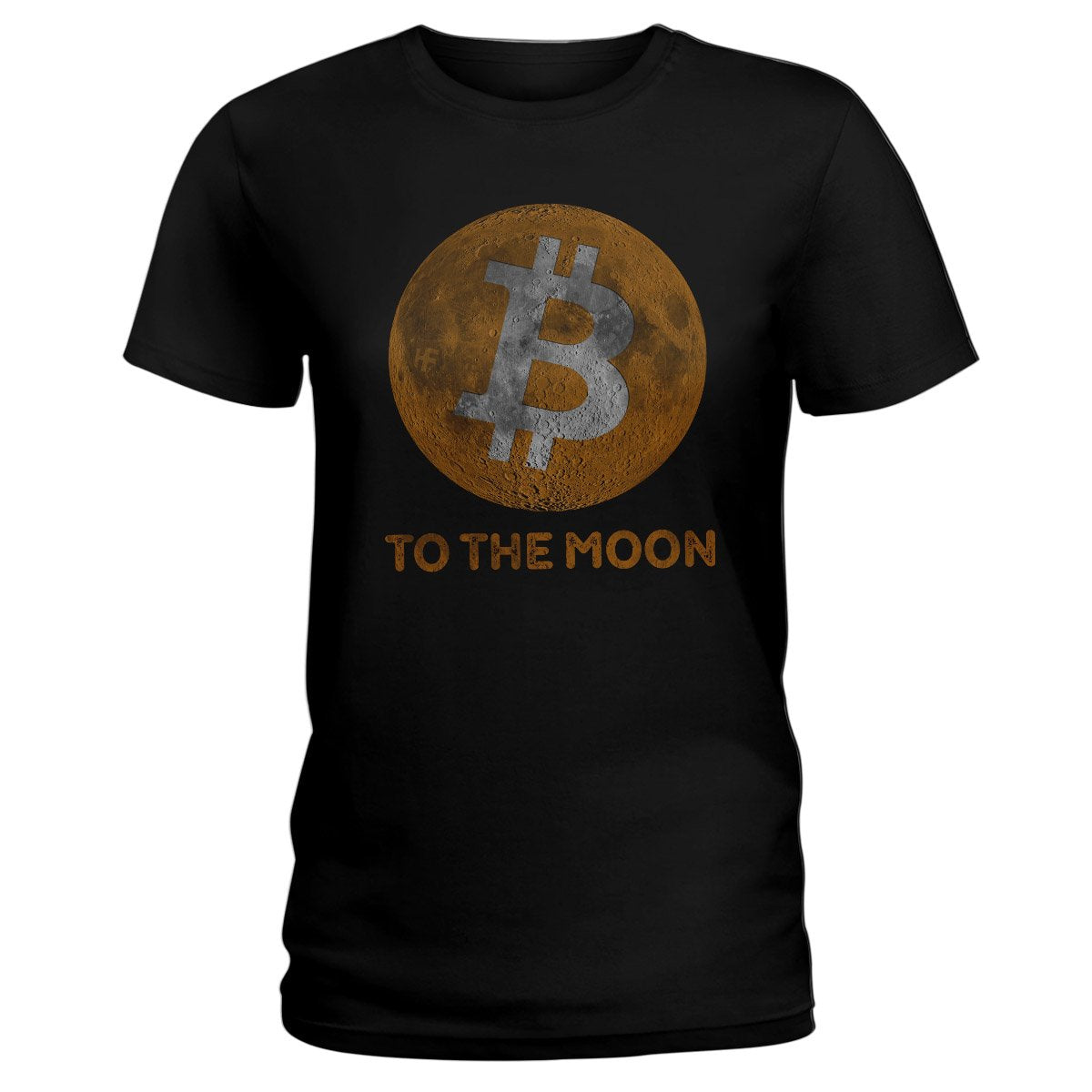 Bitcoin To The Moon Cryptocurrency EZ20 0902 Ladies T-shirt