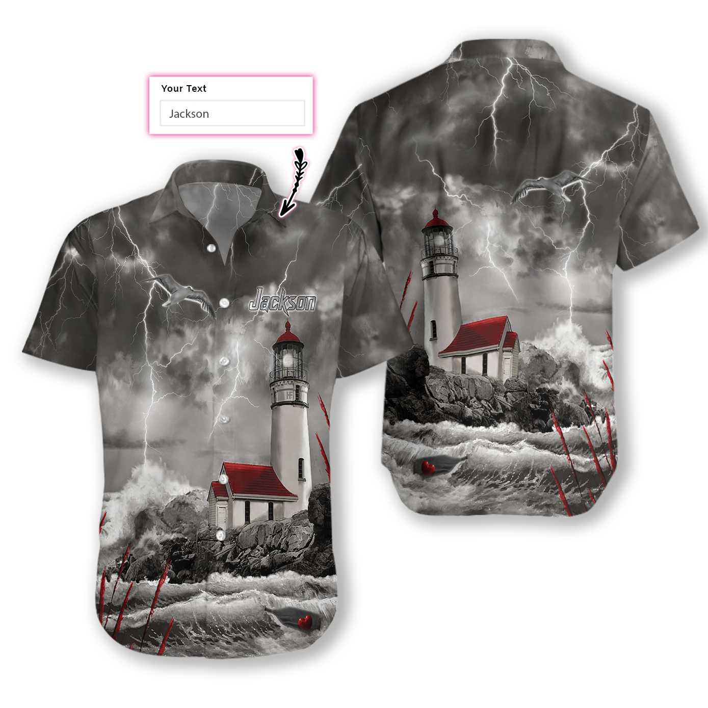 Lighthouse holder EZ15 3010 Custom Hawaiian Shirt