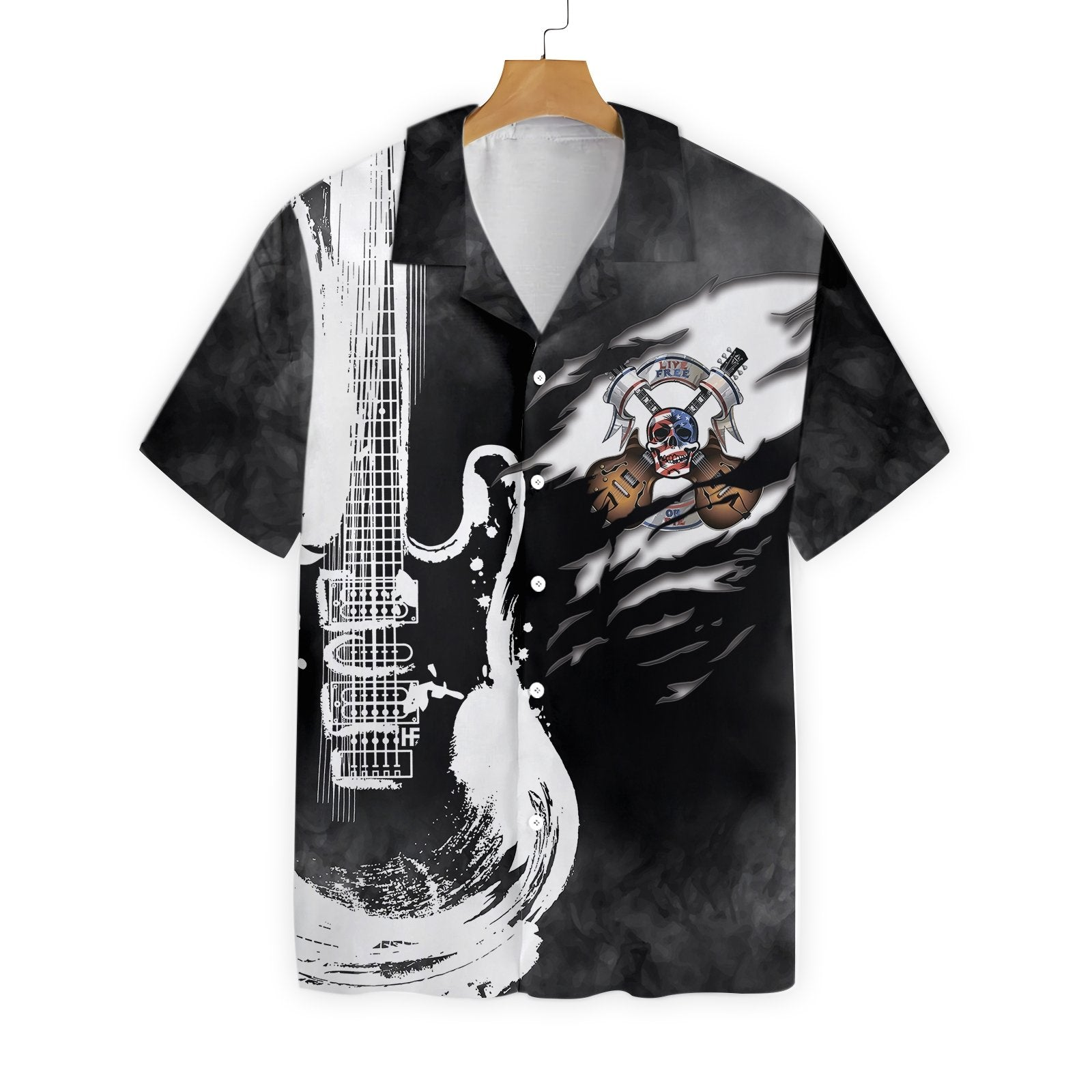 Live Free Or Die Guitar EZ24 0203 Hawaiian Shirt
