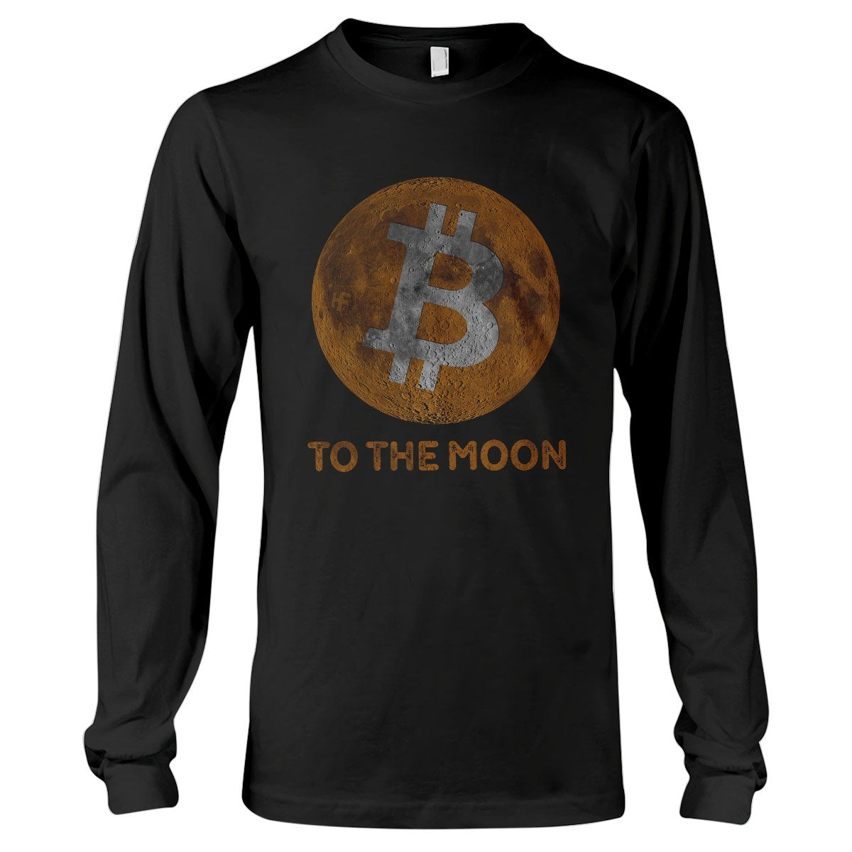 Bitcoin To The Moon Cryptocurrency EZ20 0902 Long Sleeve T-Shirt