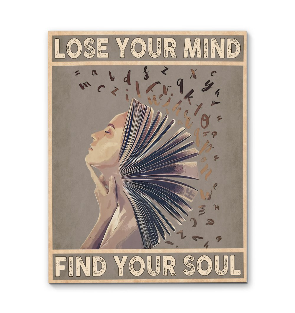 Lose Your Mind Find Your Soul Afro Queen EZ13 0610 Canvas