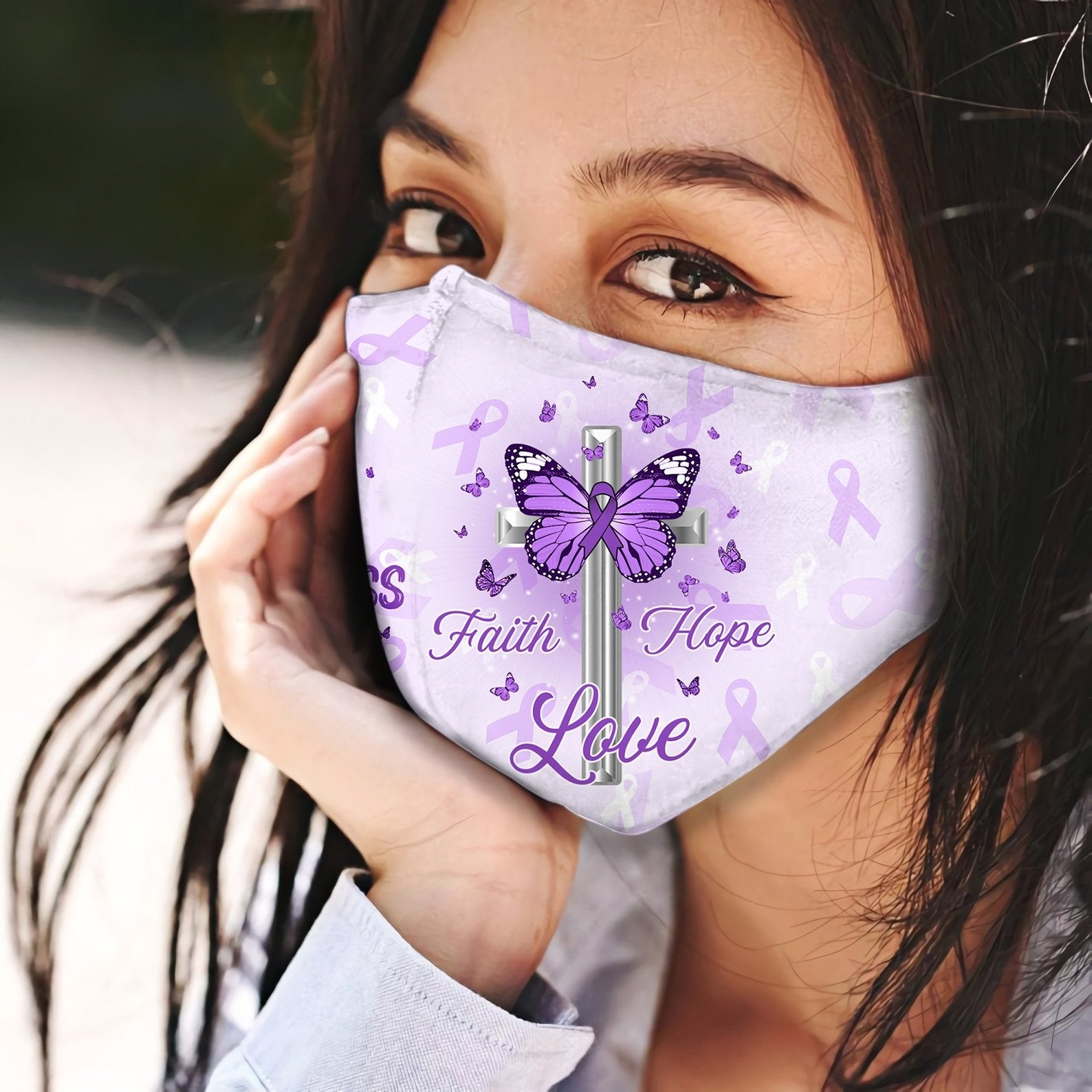 Lupus Awareness Jesus Pray Faith Hope Love EZ06 2304 Face Mask